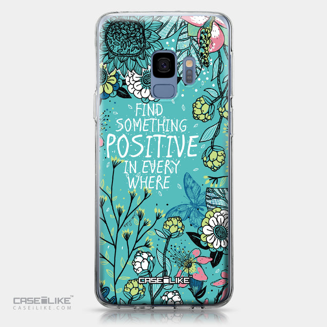 Samsung Galaxy S9 case Blooming Flowers Turquoise 2249 | CASEiLIKE.com