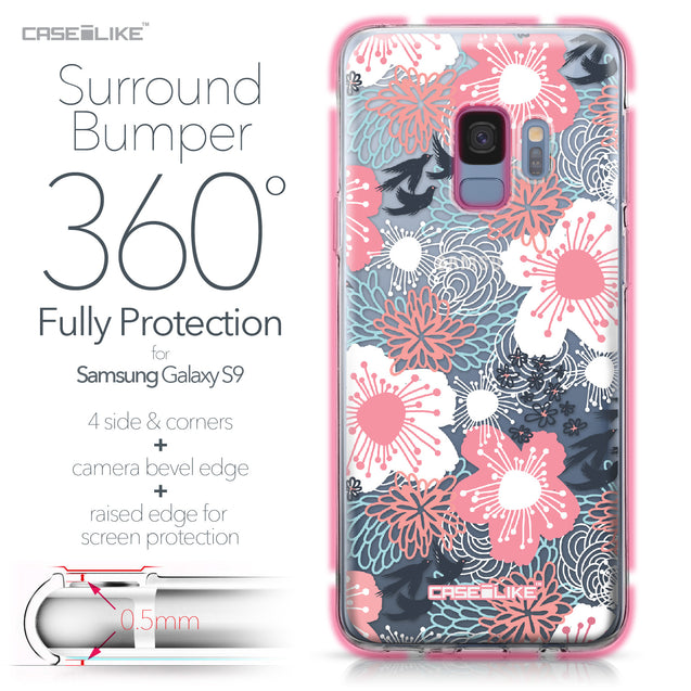 Samsung Galaxy S9 case Japanese Floral 2255 Bumper Case Protection | CASEiLIKE.com