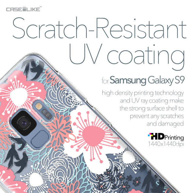 Samsung Galaxy S9 case Japanese Floral 2255 with UV-Coating Scratch-Resistant Case | CASEiLIKE.com