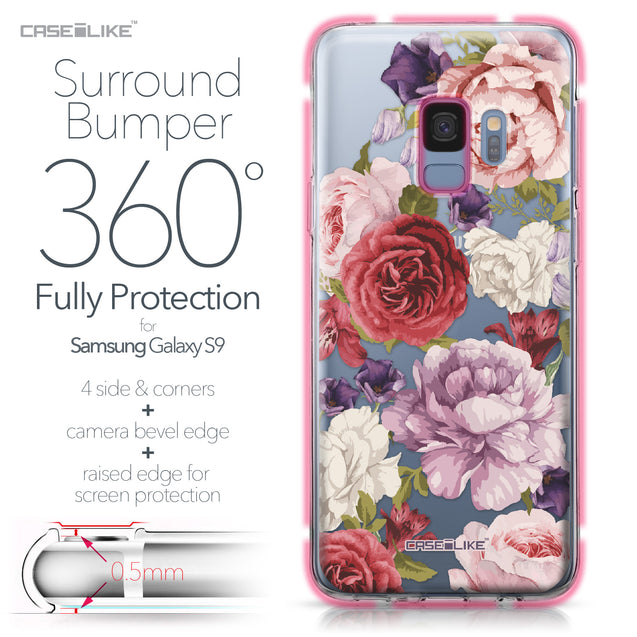 Samsung Galaxy S9 case Mixed Roses 2259 Bumper Case Protection | CASEiLIKE.com