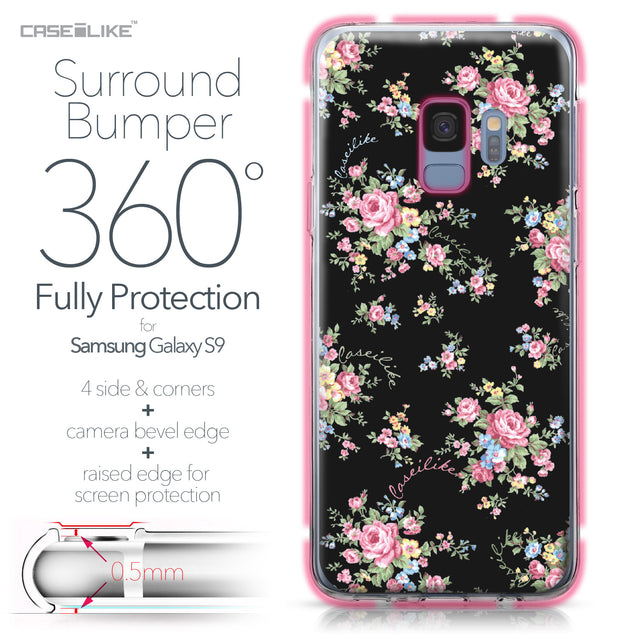 Samsung Galaxy S9 case Floral Rose Classic 2261 Bumper Case Protection | CASEiLIKE.com