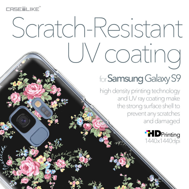 Samsung Galaxy S9 case Floral Rose Classic 2261 with UV-Coating Scratch-Resistant Case | CASEiLIKE.com