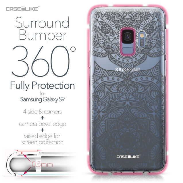 Samsung Galaxy S9 case Mandala Art 2304 Bumper Case Protection | CASEiLIKE.com