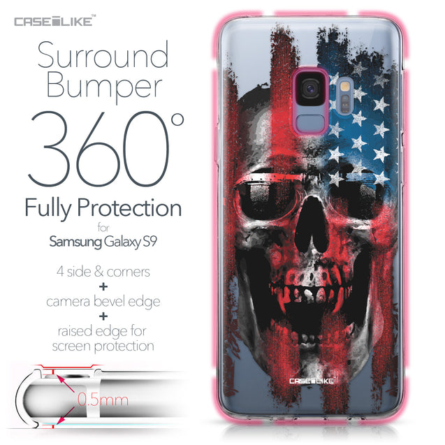 Samsung Galaxy S9 case Art of Skull 2532 Bumper Case Protection | CASEiLIKE.com