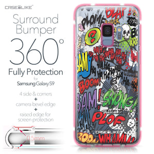 Samsung Galaxy S9 case Comic Captions 2914 Bumper Case Protection | CASEiLIKE.com