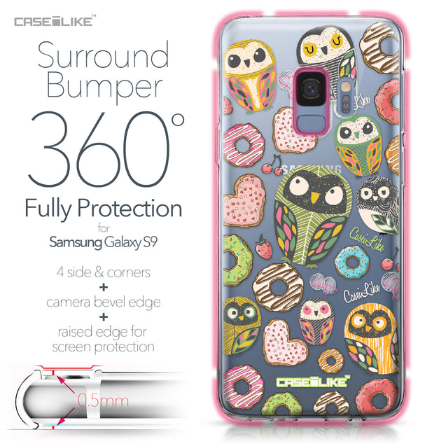 Samsung Galaxy S9 case Owl Graphic Design 3315 Bumper Case Protection | CASEiLIKE.com