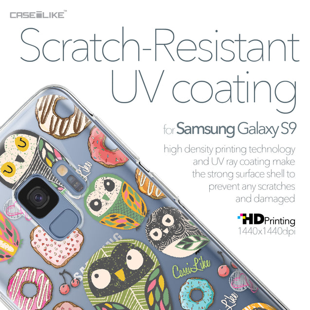 Samsung Galaxy S9 case Owl Graphic Design 3315 with UV-Coating Scratch-Resistant Case | CASEiLIKE.com