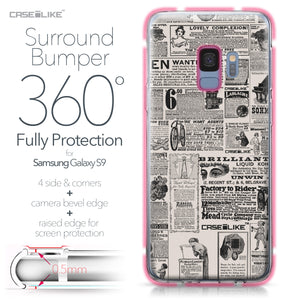 Samsung Galaxy S9 case Vintage Newspaper Advertising 4818 Bumper Case Protection | CASEiLIKE.com