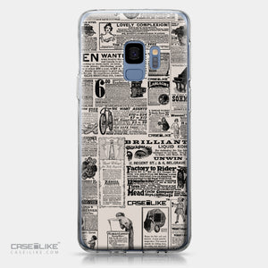 Samsung Galaxy S9 case Vintage Newspaper Advertising 4818 | CASEiLIKE.com