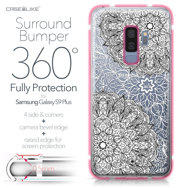 Samsung Galaxy S9 Plus case Mandala Art 2093 Bumper Case Protection | CASEiLIKE.com