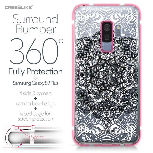 Samsung Galaxy S9 Plus case Mandala Art 2097 Bumper Case Protection | CASEiLIKE.com