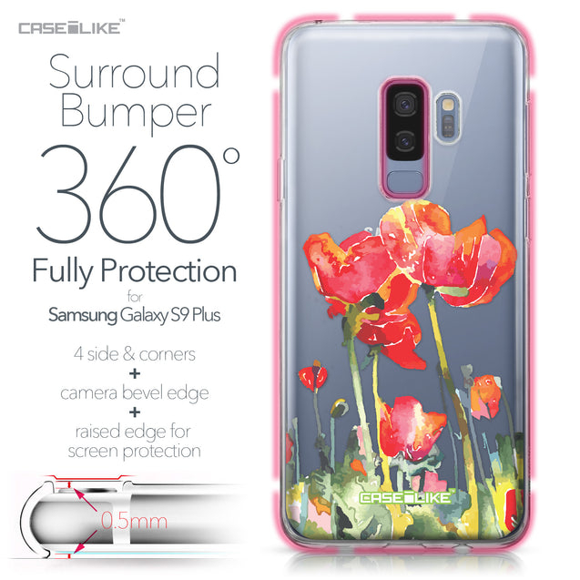 Samsung Galaxy S9 Plus case Watercolor Floral 2230 Bumper Case Protection | CASEiLIKE.com