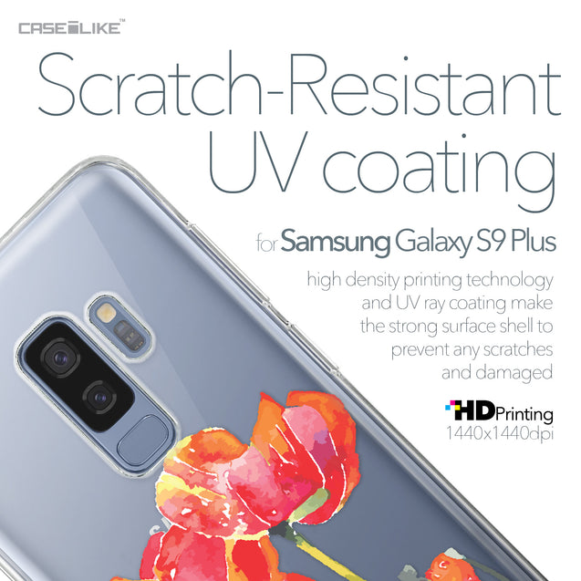 Samsung Galaxy S9 Plus case Watercolor Floral 2230 with UV-Coating Scratch-Resistant Case | CASEiLIKE.com