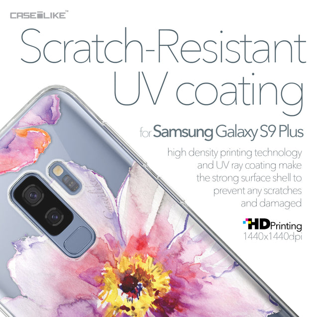 Samsung Galaxy S9 Plus case Watercolor Floral 2231 with UV-Coating Scratch-Resistant Case | CASEiLIKE.com