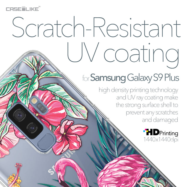 Samsung Galaxy S9 Plus case Tropical Flamingo 2239 with UV-Coating Scratch-Resistant Case | CASEiLIKE.com