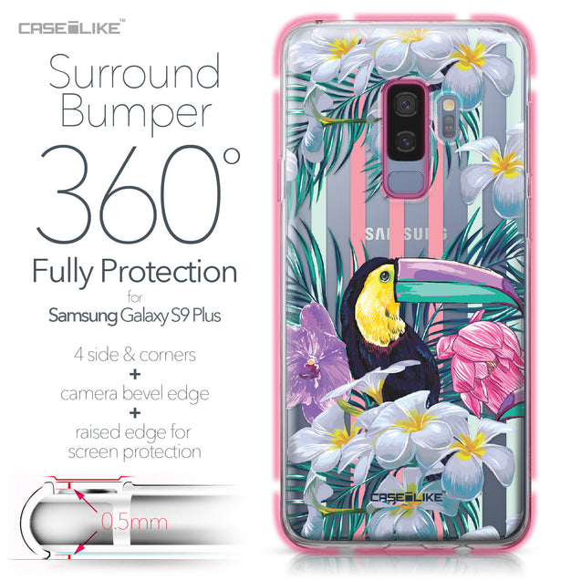 Samsung Galaxy S9 Plus case Tropical Floral 2240 Bumper Case Protection | CASEiLIKE.com