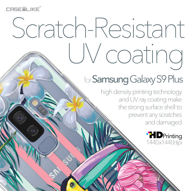 Samsung Galaxy S9 Plus case Tropical Floral 2240 with UV-Coating Scratch-Resistant Case | CASEiLIKE.com