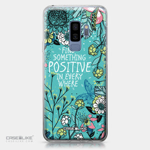 Samsung Galaxy S9 Plus case Blooming Flowers Turquoise 2249 | CASEiLIKE.com