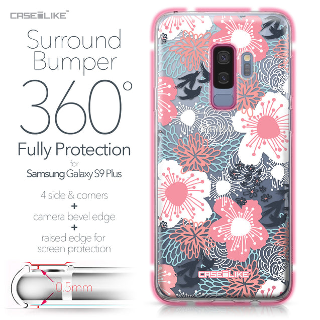 Samsung Galaxy S9 Plus case Japanese Floral 2255 Bumper Case Protection | CASEiLIKE.com