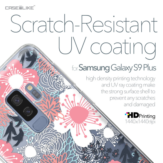 Samsung Galaxy S9 Plus case Japanese Floral 2255 with UV-Coating Scratch-Resistant Case | CASEiLIKE.com