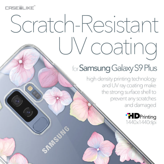 Samsung Galaxy S9 Plus case Hydrangea 2257 with UV-Coating Scratch-Resistant Case | CASEiLIKE.com