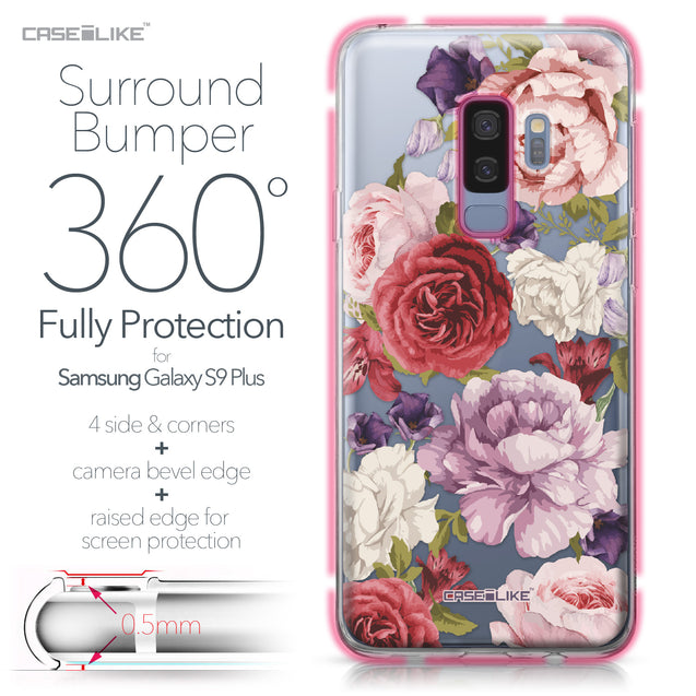 Samsung Galaxy S9 Plus case Mixed Roses 2259 Bumper Case Protection | CASEiLIKE.com