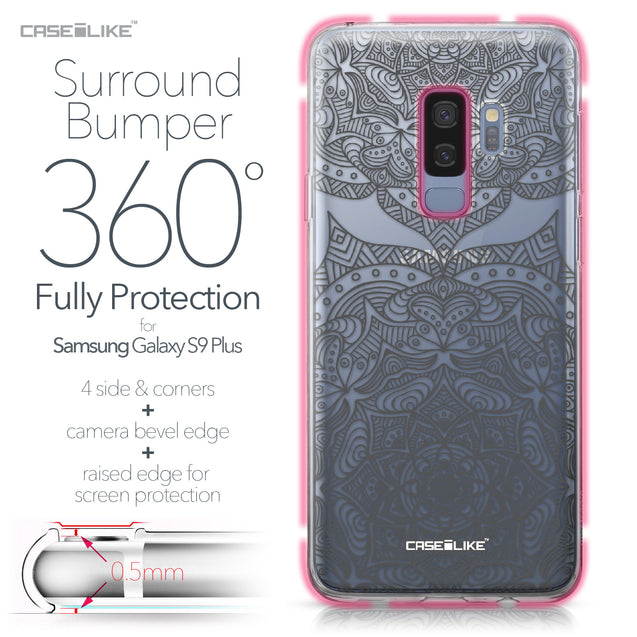 Samsung Galaxy S9 Plus case Mandala Art 2304 Bumper Case Protection | CASEiLIKE.com