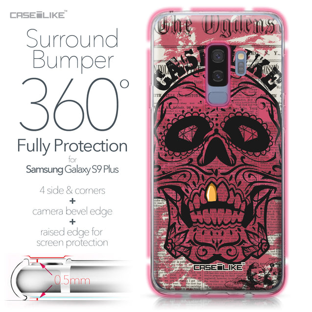 Samsung Galaxy S9 Plus case Art of Skull 2523 Bumper Case Protection | CASEiLIKE.com