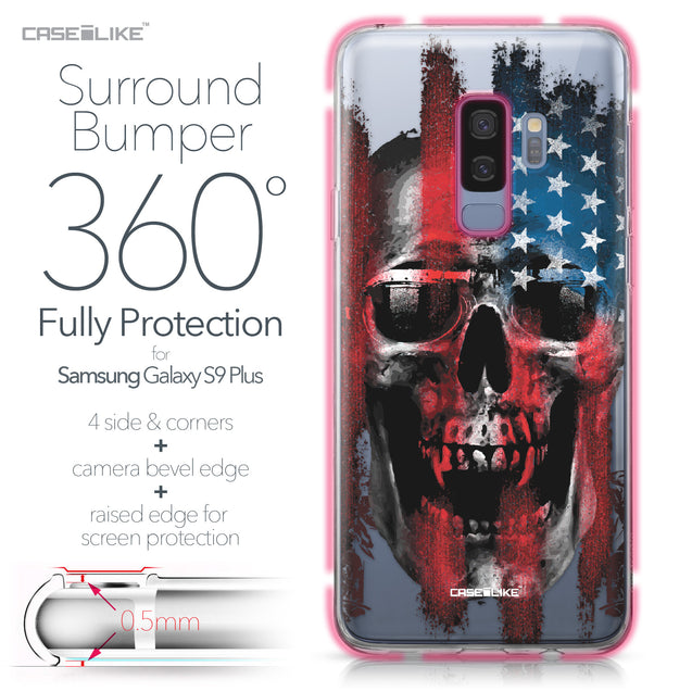 Samsung Galaxy S9 Plus case Art of Skull 2532 Bumper Case Protection | CASEiLIKE.com