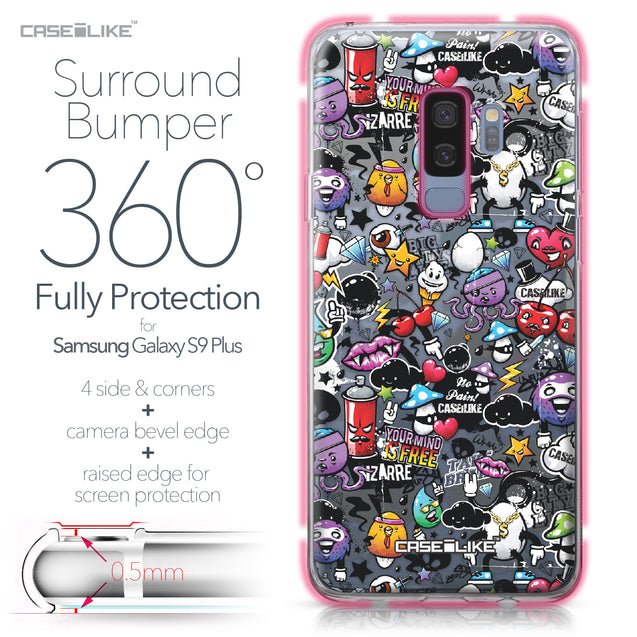 Samsung Galaxy S9 Plus case Graffiti 2703 Bumper Case Protection | CASEiLIKE.com