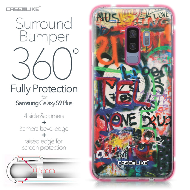 Samsung Galaxy S9 Plus case Graffiti 2721 Bumper Case Protection | CASEiLIKE.com