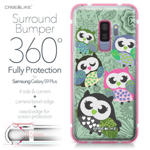 Samsung Galaxy S9 Plus case Owl Graphic Design 3313 Bumper Case Protection | CASEiLIKE.com