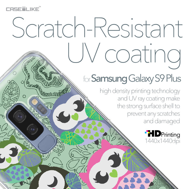 Samsung Galaxy S9 Plus case Owl Graphic Design 3313 with UV-Coating Scratch-Resistant Case | CASEiLIKE.com