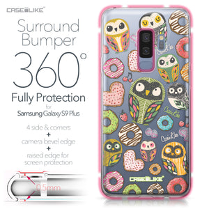 Samsung Galaxy S9 Plus case Owl Graphic Design 3315 Bumper Case Protection | CASEiLIKE.com