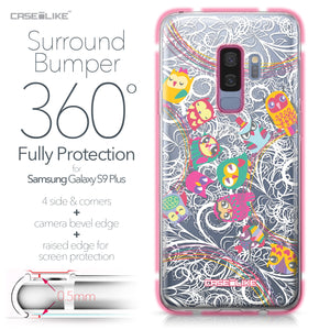 Samsung Galaxy S9 Plus case Owl Graphic Design 3316 Bumper Case Protection | CASEiLIKE.com