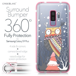 Samsung Galaxy S9 Plus case Owl Graphic Design 3317 Bumper Case Protection | CASEiLIKE.com