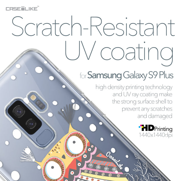 Samsung Galaxy S9 Plus case Owl Graphic Design 3317 with UV-Coating Scratch-Resistant Case | CASEiLIKE.com