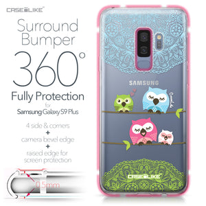 Samsung Galaxy S9 Plus case Owl Graphic Design 3318 Bumper Case Protection | CASEiLIKE.com