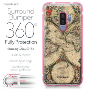 Samsung Galaxy S9 Plus case World Map Vintage 4607 Bumper Case Protection | CASEiLIKE.com