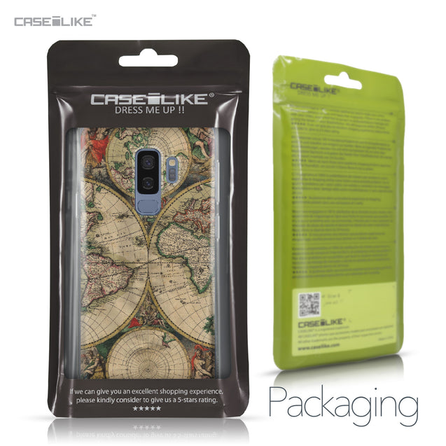 Samsung Galaxy S9 Plus case World Map Vintage 4607 Retail Packaging | CASEiLIKE.com