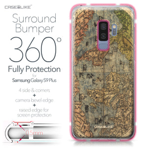 Samsung Galaxy S9 Plus case World Map Vintage 4608 Bumper Case Protection | CASEiLIKE.com
