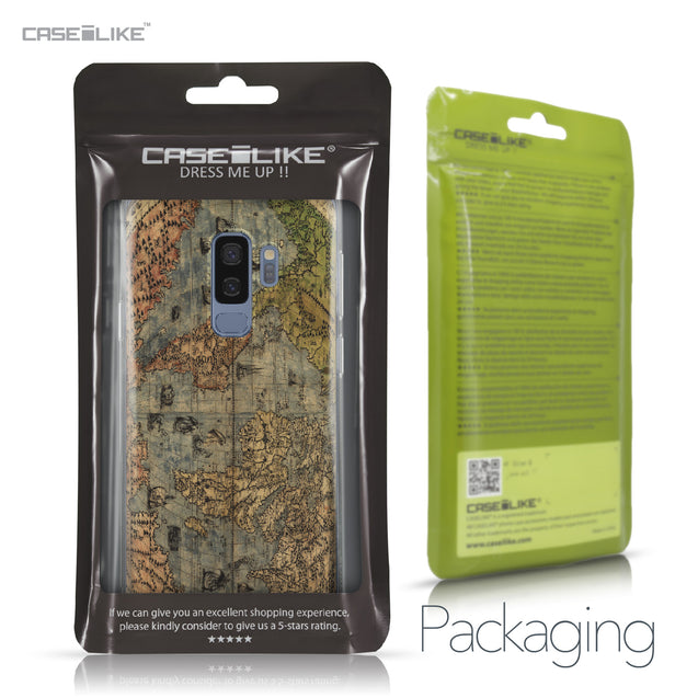 Samsung Galaxy S9 Plus case World Map Vintage 4608 Retail Packaging | CASEiLIKE.com