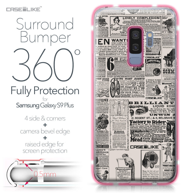 Samsung Galaxy S9 Plus case Vintage Newspaper Advertising 4818 Bumper Case Protection | CASEiLIKE.com