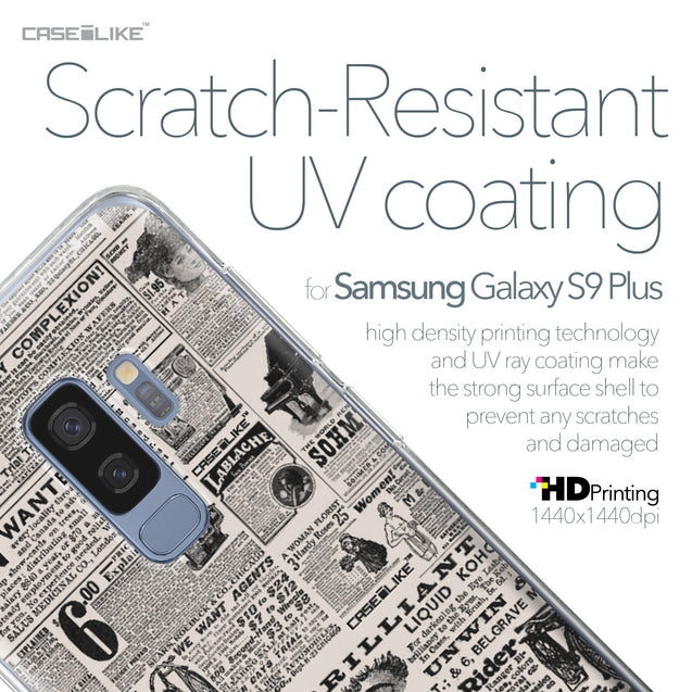 Samsung Galaxy S9 Plus case Vintage Newspaper Advertising 4818 with UV-Coating Scratch-Resistant Case | CASEiLIKE.com