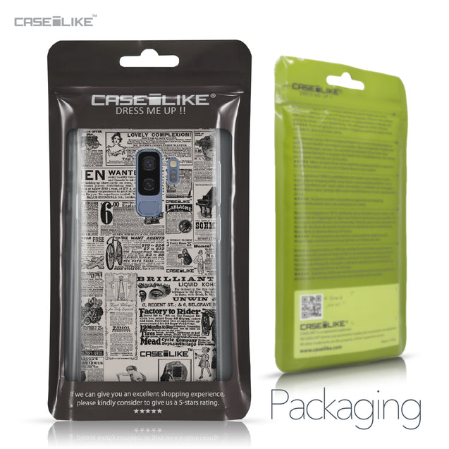 Samsung Galaxy S9 Plus case Vintage Newspaper Advertising 4818 Retail Packaging | CASEiLIKE.com
