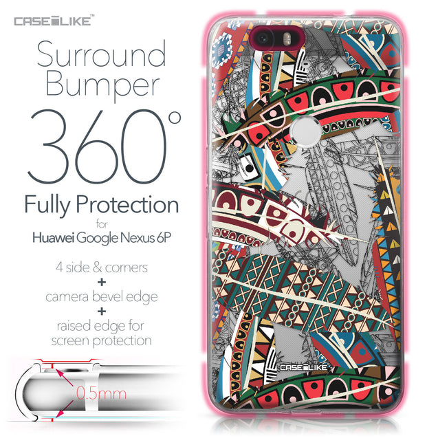 Huawei Google Nexus 6P case Indian Tribal Theme Pattern 2055 Bumper Case Protection | CASEiLIKE.com