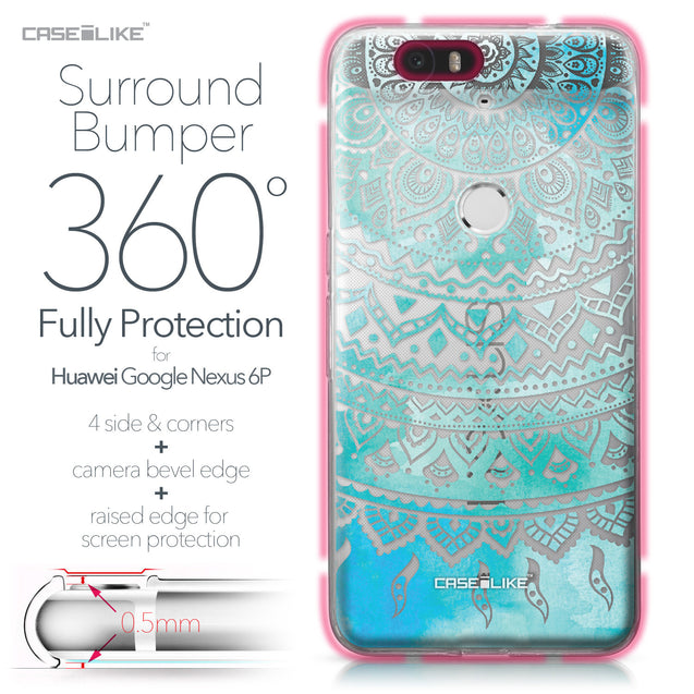 Huawei Google Nexus 6P case Indian Line Art 2066 Bumper Case Protection | CASEiLIKE.com