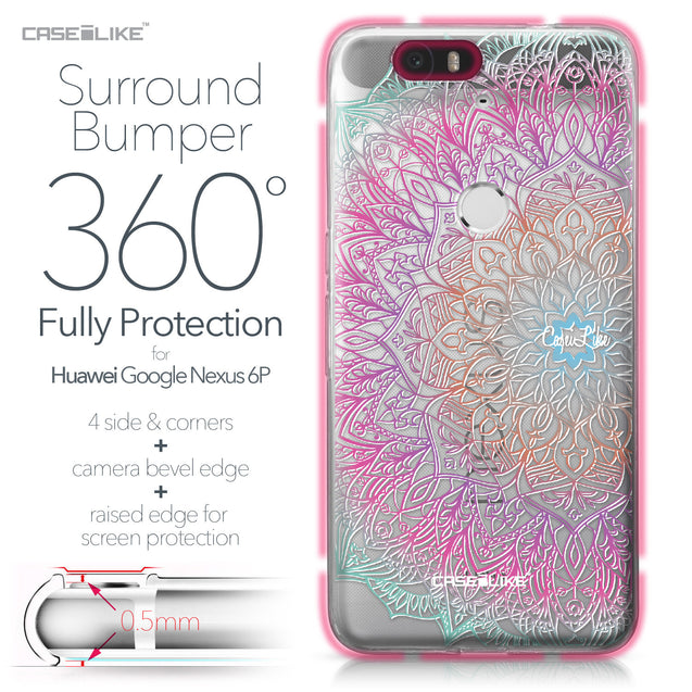 Huawei Google Nexus 6P case Mandala Art 2090 Bumper Case Protection | CASEiLIKE.com