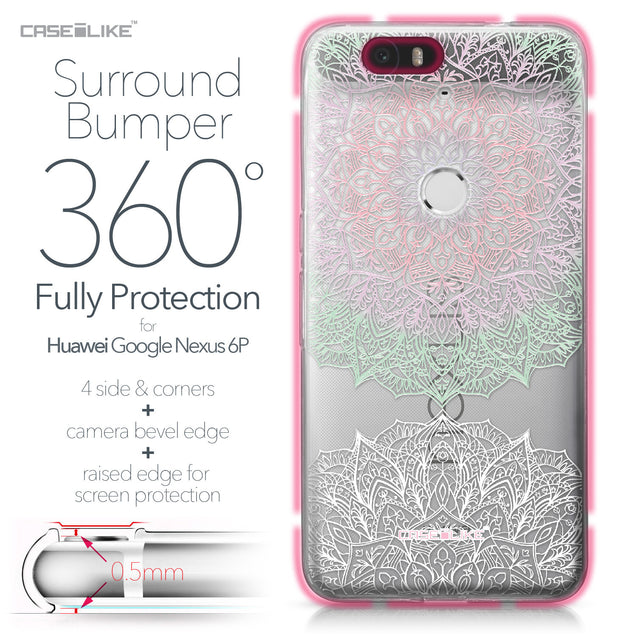 Huawei Google Nexus 6P case Mandala Art 2092 Bumper Case Protection | CASEiLIKE.com
