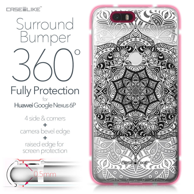 Huawei Google Nexus 6P case Mandala Art 2097 Bumper Case Protection | CASEiLIKE.com